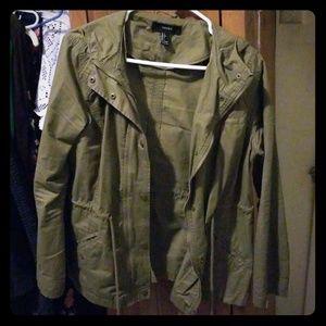 Military Jacket - Forrest Green - Forever 21